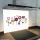 Fond de hotte verre imprimé personnalisé floral