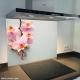 Fond de hotte verre imprimé personnalisé floral 4