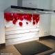 Fond de hotte verre imprimé personnalisé floral 6