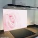 Fond de hotte verre imprimé personnalisé floral 7