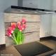 Fond de hotte verre imprimé personnalisé floral 8
