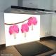 Fond de hotte verre imprimé personnalisé floral 10