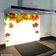 Fond de hotte verre imprimé personnalisé floral 11