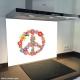 Fond de hotte verre imprimé personnalisé floral 13