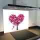 Fond de hotte verre imprimé personnalisé floral 15