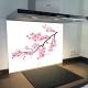 Fond de hotte verre imprimé personnalisé  floral 16