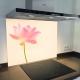 Fond de hotte verre imprimé personnalisé floral 17