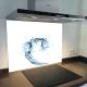 Fond de hotte verre imprimé personnalisé matière 5