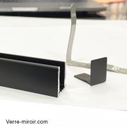 Profilé-clipper-diffusion-U9-noir-mat-spécial-douche