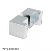 Poignée laiton chromé pour porte de douche en verre