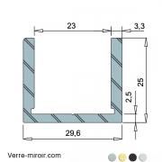 Profilé U23 clipper diffusion