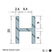 Profilé H9 clipper diffusion