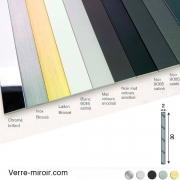 Plats aluminium 30x2 mm chromé - laiton brossé - inox brossé - noir mat