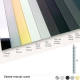 Plats aluminium 60x3 mm chromé - laiton brossé - inox brossé - noir mat