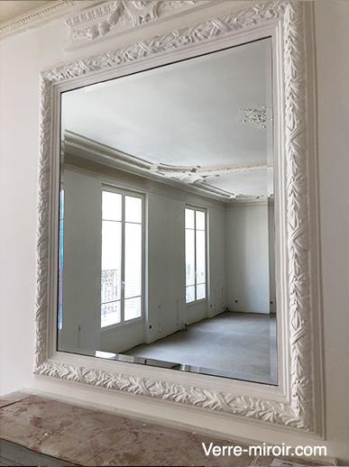 Miroir biseauté dessus de cheminée
