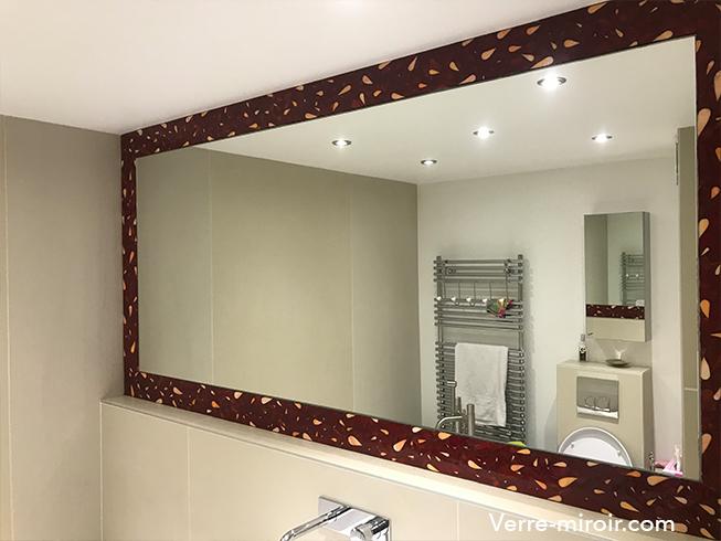 Miroir argenté de salle de bain sur mesure