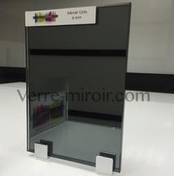 Miroir gris sur mesure