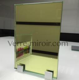 Miroir jaune sur mesure