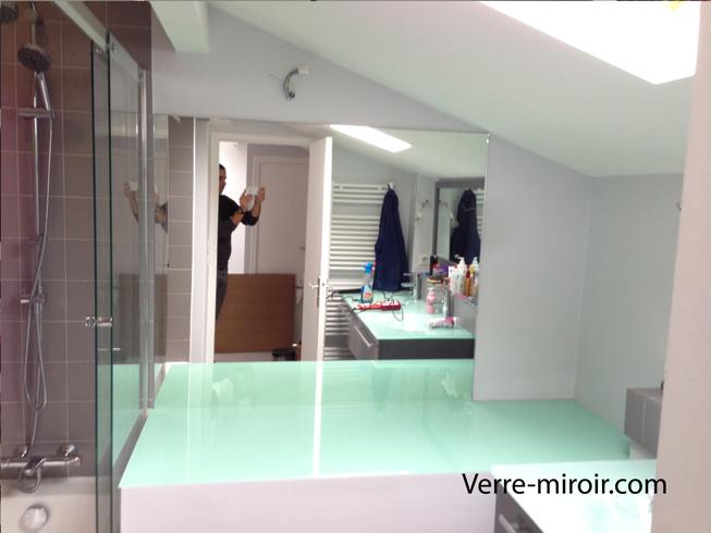 miroir mural sur mesure. Black Bedroom Furniture Sets. Home Design Ideas