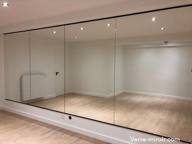 Miroir argent salle de danse sur mesure