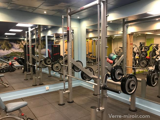 Miroir argent salle de sport