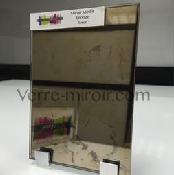 Miroir vieilli bronze sur mesure