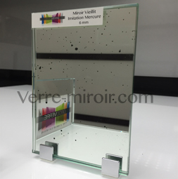 Miroir imitation mercure