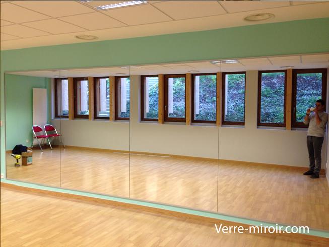 Mur miroir pour salle de danse