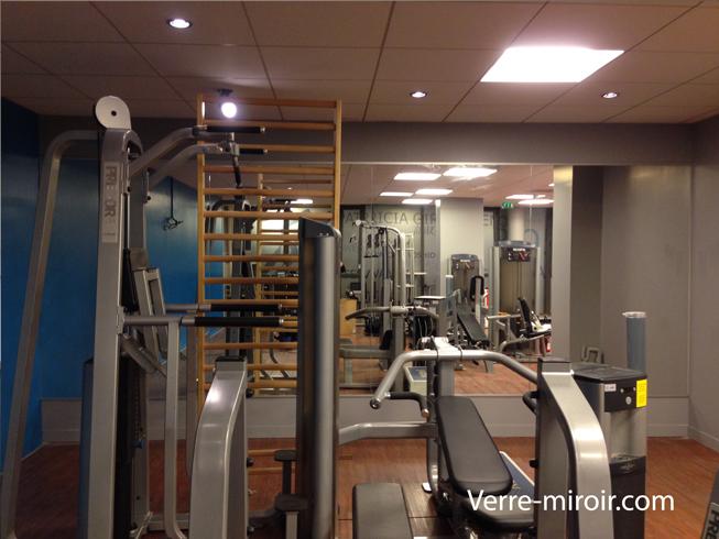 Mur miroir salle de fitness