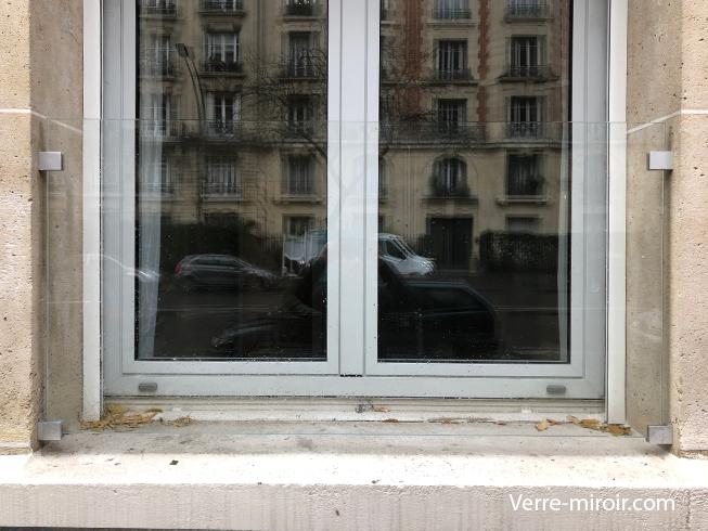 Pare vue de fenêtre en verre