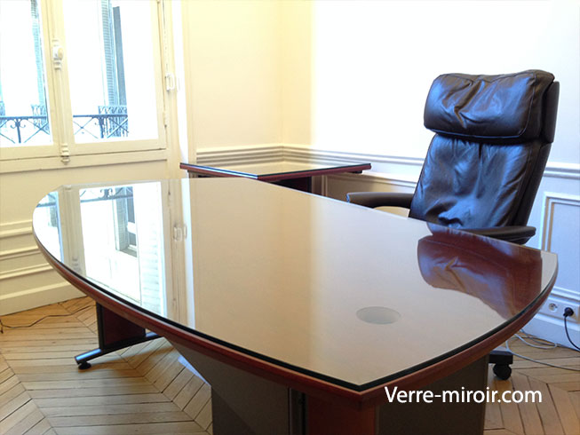 Protection de bureau en verre trempe