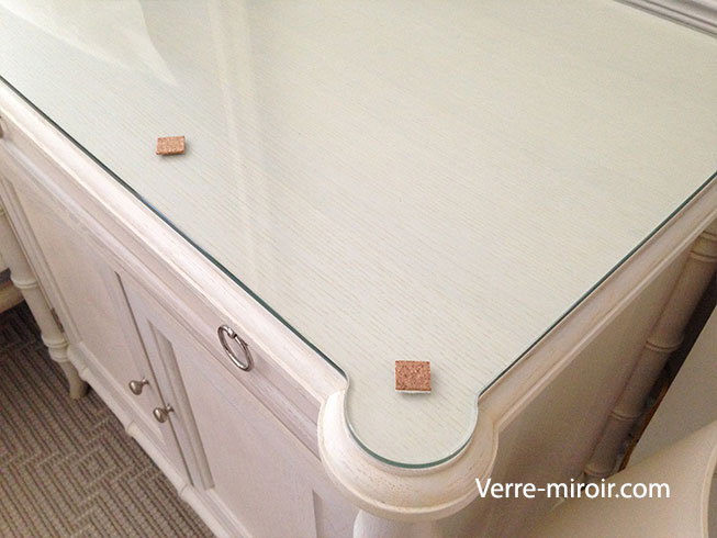 Protection commode oreille verre trempe