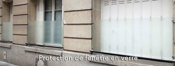 Protection de fenêtre en verre