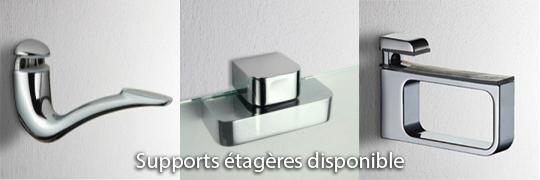 Supports étagères disponibles