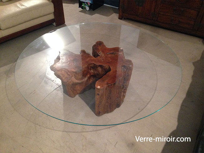 Protection de commode en verre trempe