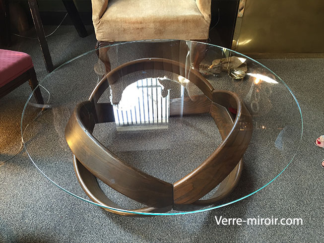 Table basse en verre trempe ronde