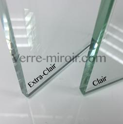Verre clair et verre extra clair