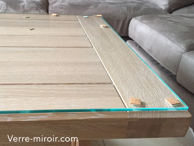 Verre extra clair protection table basse