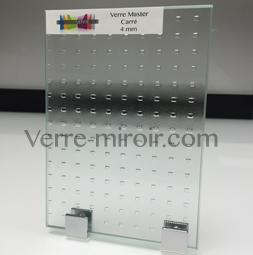 Verre imprime master carré sur mesure