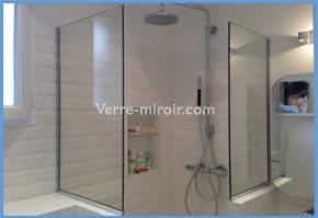 Paroi et porte de douche en verre trempé sur mesure