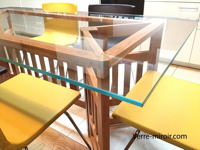 Table En Verre Trempé Sur Mesure