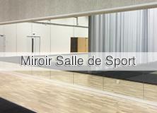 Miroir de salle de sport